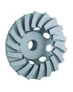 """LACKMOND PRODUCTS SPPSTCN Series 4"""", 5/8""""-11 Segmented Turbo Cup Wheel"""