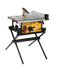 "DeWalt DWE7490X 10"" Job Site Portable Table saw with Folding Scissor Stand"