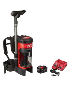 Milwaukee 0885-21HD M18 Fuel 3-in-1 Backpack Vacuum Kit, 9.0Ah Batteries
