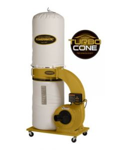 Powermatic 1791078K PM1300TX-BK Dust Collector with Turbo Cone Technology, 1.75HP 1PH 115/230V, 30-Micron Bag Filter Kit