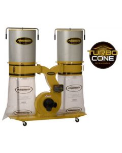 Powermatic 1792072K PM1900TX-CK1 Dust Collector with Turbo Cone Technology, 3HP 1PH 230V, 2-Micron Canister Kit