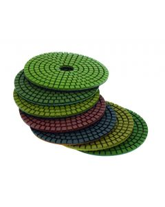 """LACKMOND PRODUCTS Contractor Grade 5""""x 400 Grit Resin Bonded Diamond Polishing Pad (Wet Use Only)"""