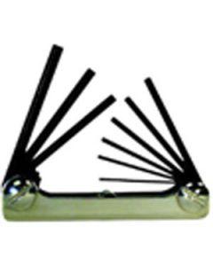 20912 Eklind Classic Fold 9 Piece Hex Key Set with Classic Steel Handle