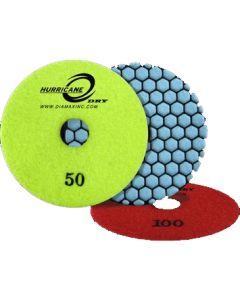 "Diamax Hurricane HDP41500 Dry Polishing Disc, 4"", 1500 Grit"