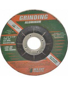"""4"""" x 1/4"""" x 3/8"""" A24MTX Type27 Aluminum Grinding Wheel"""