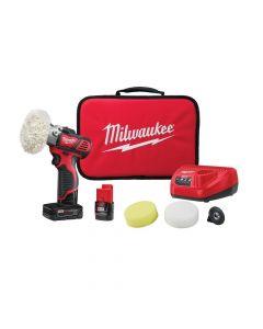 Milwaukee 2438-22 M12 Variable Speed Polisher/Sander Kit, 1.5Ah Batteries