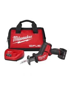 Milwaukee 2520-21XC M12 12V Fuel Lithium-Ion Cordless Hackzall Reciprocating Saw Kit, 4.0Ah Batteries