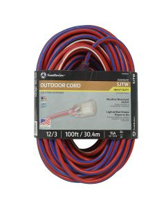 Coleman 2549 100' Heavy Duty Extension Cord with Lighted End
