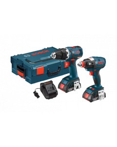 Bosch CLPK233-181L 18V EC Brushless Compact Tough Drill Driver and Socket Ready Impact Driver Combo Kit, 2.0Ah Batteries