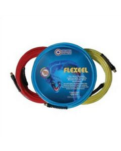 """PFE41004TR 100' 1/4"""" FLEXEEL 1/4"""" MPT Straight Hose with Reusable Strain Relief Fitting"""