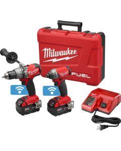 Milwaukee 2796-22 M18™ FUEL™ ONE-KEY Hammer Drill Driver Kit, 5.0 Ah