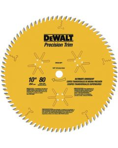 """DeWalt DW3218PT 10"""" 80T ATB Fine Crosscutting Saw Blade"""