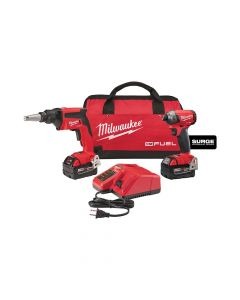 Milwaukee 2896-22 M18 FUEL Drywall Screw Gun & SURGE Hydraulic Impact Driver Cordless Combo Kit