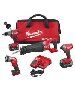 Milwaukee 2896-24 M18 Fuel 18V Lithium-Ion Cordless 4-Tool Combo Kit