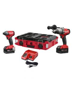 Milwaukee 2897-22PO M18 Fuel 18V 2-Piece Cordless Combo Kit with Free Packout Case