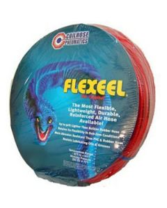 "PFE40504TR Flexeel 1/4"" x 50"" Air Hose, Straight Red"