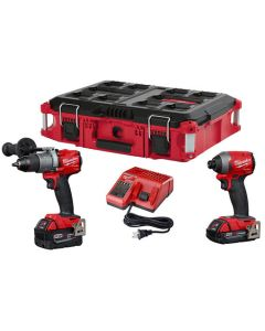 Milwaukee 2997-22CXPO M18 FUEL Hammer Drill & Impact Driver Combo PACKOUT Kit