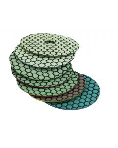 "LACKMOND PRODUCTS Pro Grade 5""x 50 Grit Resin Bonded Diamond Dry Polishing Pads"