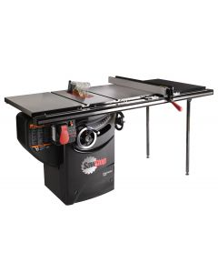"10"" 1.75 HP Professional Cabinet Saw with 36"" T-Glide Fence System, Rails and Extension Table"
