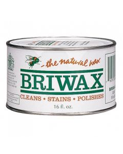 Briwax Golden Oak Solvent Based Wood Wax, 16 oz.