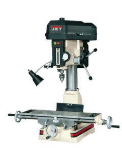 JET 350128 JDM-18PFN Mill Drill with NEWALL DP700 2 Axis DRO installed