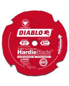 D0704DH 7-1/4 x 4T Diablo HardieBlade Saw Blade (Polycrystalline Diamond Tipped for cutting fiber cement boards)