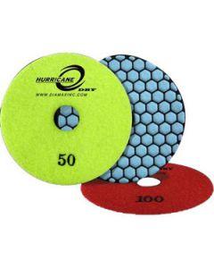 "HDP4100 Diamax Hurricane Dry Polishing Disc, 4"", 100 Grit"