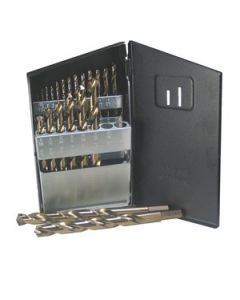 Norseman 40651 Heavy-Duty Drill Bit Set, 1/16 - 1/2 inch, Molybdenum Tool Steel