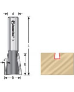 8 Degree Dovetail Router Bits