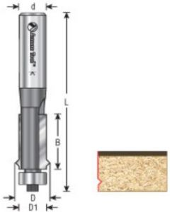 Flush Trim V-Groove Router Bits