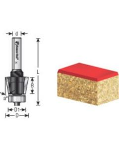 EZ-Change Bevel/Tapered Replaceable Head Router Bit (Replaces Ocemco #TA-151)