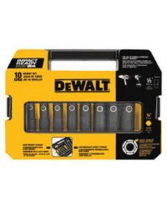 "DeWalt DW22812 10-Piece Impact-Ready 1/2"" Drive Impact Socket Set"