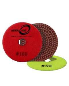 "PDRE4100 Diamax Hurricane Economy Wet Polishing Disc, 4"", 100 Grit"