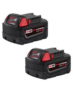 Milwaukee 48-11-1852 M18 Red Lithium XC 5.0Ah Extended Capacity Battery Pack, 2 Piece