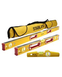 "Stabila 48370 Heavy Duty 3-Level Level Set, 48"", 24"" & Torpedo"