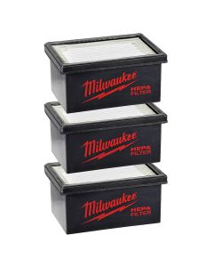 Milwaukee 49-90-2306 M12 Hammervac HEPA Filter, 3 Pack