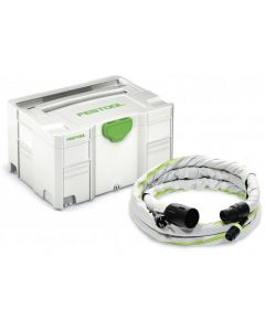 Festool 500276 11.5' Dust Hose with Integrated Plug-It Cord & Sleeve, in Systainer SYS3