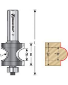 Bullnose Radius Router Bits with Bearing