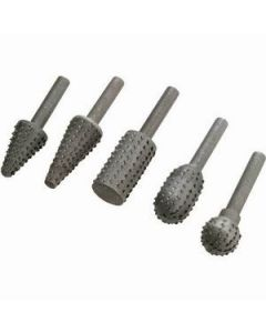 Steelex D2257 5-Piece Rotary Rasp Set