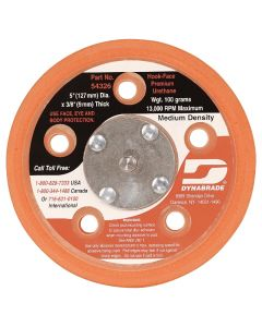 "Dynabrade 54326 5"" Male Medium Density Vacuum Disc Pad"