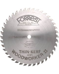 "10"" 40T ATB Thin-Kerf Woodworker II Saw Blade with 5/8 Arbor, 3/32"" Kerf"