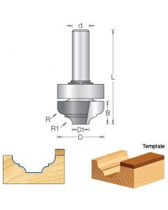 Classical Plunge Router Bits w/ Upper Ball Bearing Style b