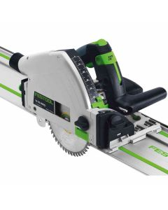 "Festool 575388 TS55REQ 6-1/4"" Imperial Plunge  Track Saw with 55"" Guide Rail"