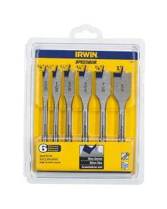 Irwin 88886 Spade Wood Drilling Bit Set, 6 Piece