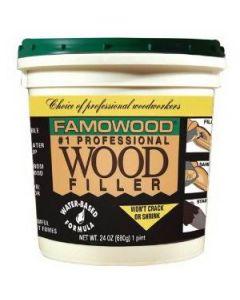 40022118 Famowood Water Based Wood Filler, 24 oz, Fir/Maple