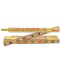 """Lufkin TX46N 5/8"""" x 6' Red End Wood Rule with Two 6"""" Slide Rule Extension"""