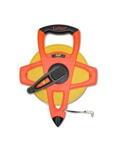 "Lufkin FE300 1/2"" x 300' Hi-Viz Orange Fiberglass Open Reel Measuring Tape"