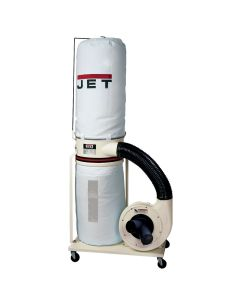 JET 708657K DC-1100VX-BK Dust Collector with Vortex Cone Technology, 1.5HP 1PH 115/230V, 30-Micron Bag Filter Kit