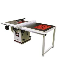 """JET 708678PK 10"""" Deluxe Xacta Saw, 3HP, 1Ph, 50"""" Rip with Downdraft Table and Leg Set"""