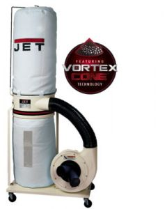 JET 710701K DC-1200VX-BK1 Dust Collector with Vortex Cone Technology, 2HP 1PH 230V, 30-Micron Bag Filter Kit